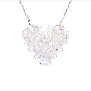 Swarovski Crystal Beaded Heart Necklace NWT